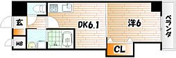 THE SQUARE Suite Residence[5階]の間取り