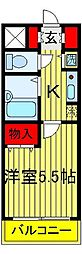 ソレイユ天王台[314号室]の間取り