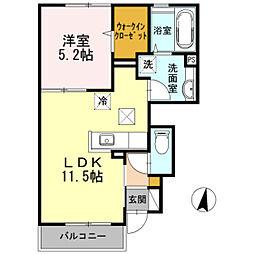 Sunny Flat YASUDAII[1階]の間取り