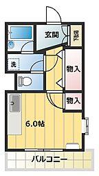 神谷レジデンス[4階]の間取り