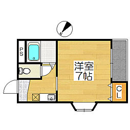 ヒルズSTN[4階]の間取り