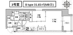 ミラージュパレス南船場[802号室号室]の間取り