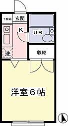 東京都日野市高幡の賃貸マンションの間取り