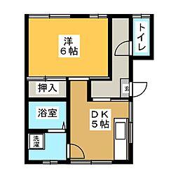 葛西アパート[1階]の間取り