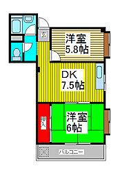 岩代ビル[2階]の間取り