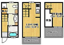 荒江ルッソI[5号室]の間取り