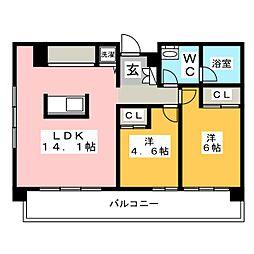 リンブラン[3階]の間取り
