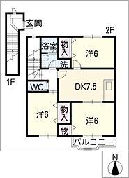 フォレストガーデンII[2階]の間取り