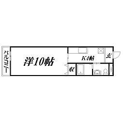 静岡県浜松市中区高丘北1丁目の賃貸マンションの間取り