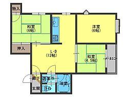 ラピス東中本[1階]の間取り