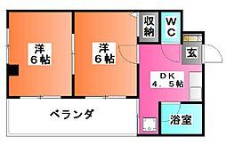 クリスタル葵[2階]の間取り