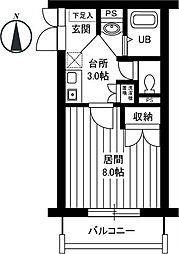 パインフィールド[2階]の間取り