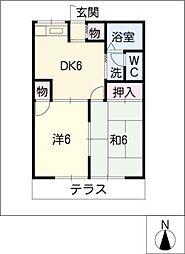 ロイヤルグリーンII[1階]の間取り