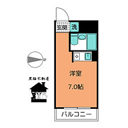 KAWAKADOビル[7階]の間取り