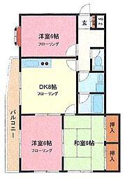 埼玉県さいたま市南区神明2丁目の賃貸マンションの間取り