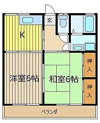 ウエストコート志木弐番館[1階]の間取り
