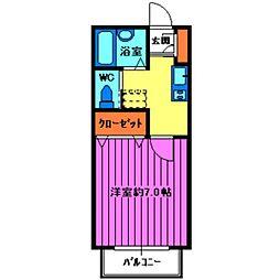 セレ南大塚[203号室]の間取り