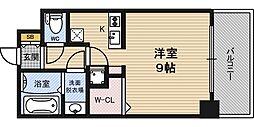 プレアデス梅田WEST[6階]の間取り