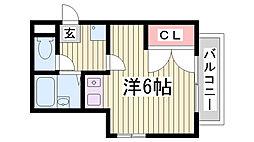 シュクレ須磨[2階]の間取り