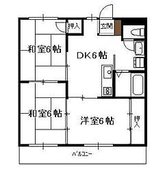 リバーサイドマンション 清武[302号室]の間取り