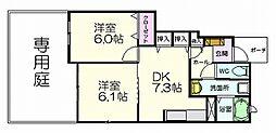 バンブーハウス[1階]の間取り