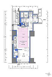 JR山手線 神田駅 徒歩4分の賃貸マンション 5階1LDKの間取り