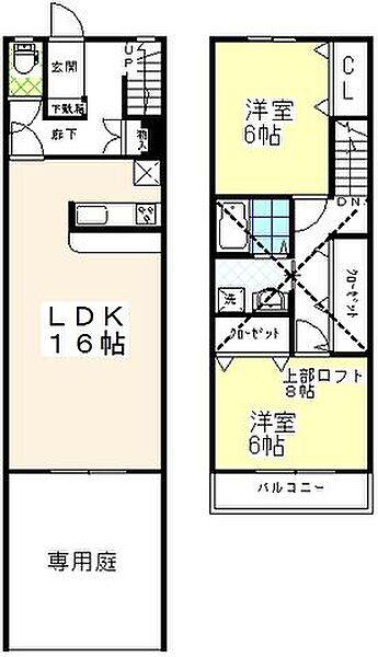 [テラスハウス] 東京都葛飾区東水元3丁目 の賃貸【東京都 / 葛飾区】の間取り