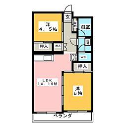 高崎ヴィレッヂ[2階]の間取り