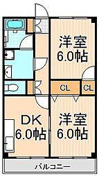 綾瀬リージェントマンション[305号室]の間取り