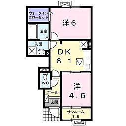 カ−サ・フェリ−チェ[0102号室]の間取り