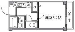 東京都狛江市東和泉3丁目の賃貸マンションの間取り