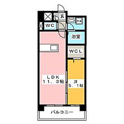 ヴィンテージ箱崎東[2階]の間取り