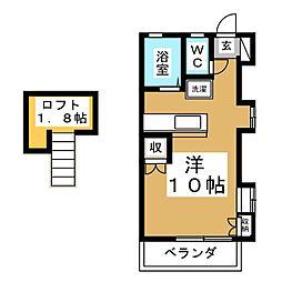 旭ヶ丘アネックス[2階]の間取り