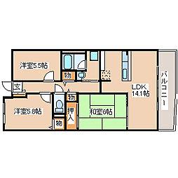 スペランツァ西神戸[6060号室]の間取り