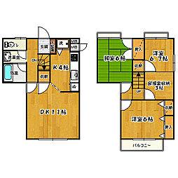 [タウンハウス] 東京都国分寺市内藤1丁目 の賃貸【/】の間取り