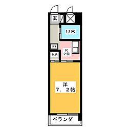 メゾンドゥ六番[4階]の間取り