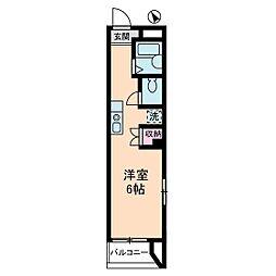 宮崎ビル[6階]の間取り