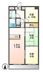 悠和苑[3階]の間取り