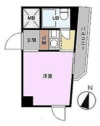ライオンズマンション西小岩第3[8階]の間取り