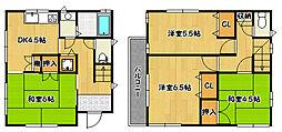 [一戸建] 兵庫県神戸市兵庫区会下山町2丁目 の賃貸【/】の間取り