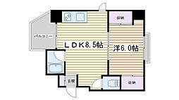 田戸ガーデンツリー[403号室]の間取り