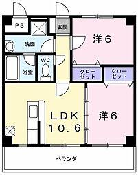 中島マンション[0305号室]の間取り