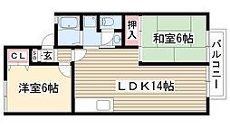 愛知県尾張旭市霞ヶ丘町南の賃貸アパートの間取り