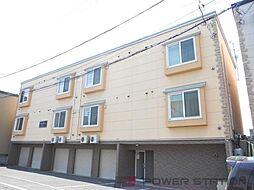 北海道江別市大麻ひかり町の賃貸アパートの外観