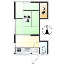 浅野アパート[203号室]の間取り