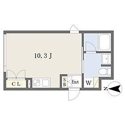 名古屋市営鶴舞線 浅間町駅 徒歩10分の賃貸マンション 5階1Kの間取り