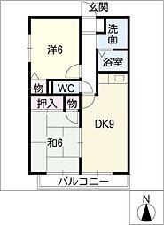セジュール東須ヶ口[1階]の間取り