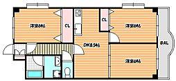 JR京葉線 新浦安駅 徒歩18分の賃貸マンション 4階3DKの間取り