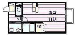ドリーム葉月伍番館[2階]の間取り
