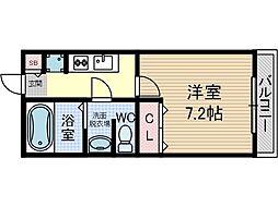 エスポアールA棟[1階]の間取り